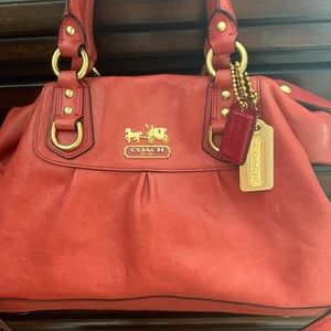 Pink/Peach Coach Purse